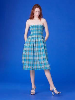 Diane von Furstenberg Strapless Smocked Midi Dress