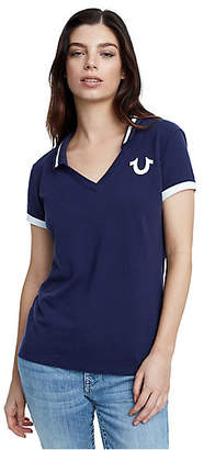 True Religion True Champ Deep V Polo Shirt