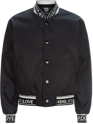 Dolce & Gabbana Hashtag Trim Bomber Jacket