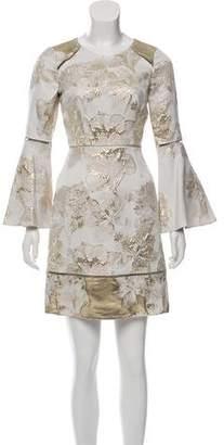 Marchesa Metallic Mini Dress w/ Tags