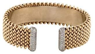 14K Diamond Cross Chain Cuff