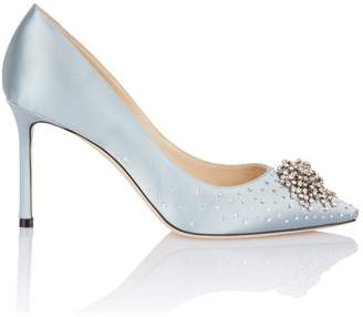 Jimmy Choo Joan Grey Satin Firework Pump