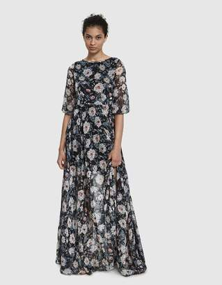 Farrow Edith Sheer Floral Maxi Dress