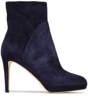 Sergio Rossi Royal Suede Platform Ankle Boots