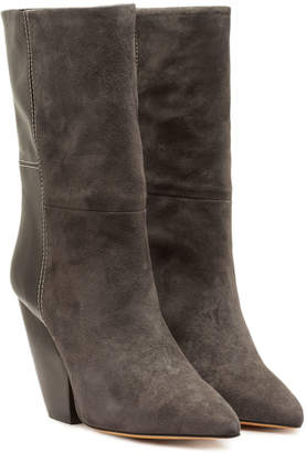 IRO Pari Suede Ankle Boots with Leather