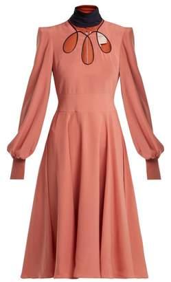 Roksanda Adena Silk Dress - Womens - Pink Multi