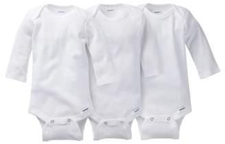 0265f545e Gerber Newborn Baby Onesies Brand Organic Long Sleeve Bodysuits, 3-pack