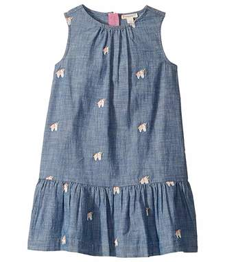 J.Crew crewcuts by Chambray Dress with Embroidered Unicorns (Toddler/Little Kids/Big Kids)