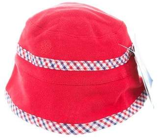 Andy & Evan Boys' Gingham-Trimmed Bucket Hat w/ Tags