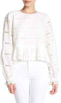 Cynthia Rowley Cropped Ruffle Blouse