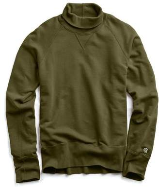 Todd Snyder + Champion Champion Turtleneck Sweatshirt in Military Olive