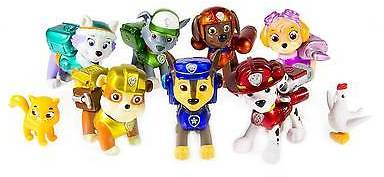 Paw Patrol, Limited Edition Action Pack Pups Metallic Series, 9 Figure Target...