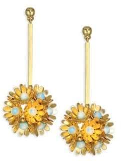 Lele Sadoughi Rio Plumeria Drop Earrings
