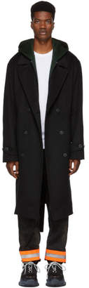 Alexander Wang Black Splittable Over Coat