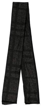 Burberry Woven Scallop-Trimmed Scarf