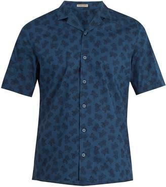 Bottega Veneta Butterfly-print short-sleeved cotton shirt