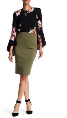 Catherine Malandrino Back Zip Scuba Pencil Skirt