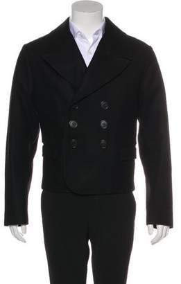 Christian Dior Wool Double-Breasted Peacoat