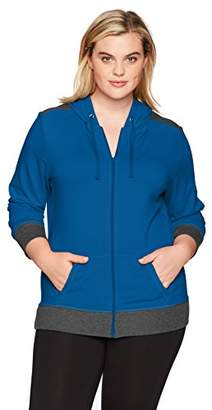 Just My Size Women's Plus Size Active French Terry Full-Zip Hoodie