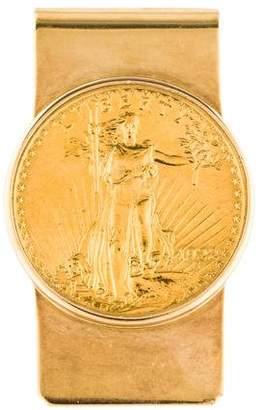 Money Clip 1922 Twenty Dollar U.S. Gold Coin Money Clip