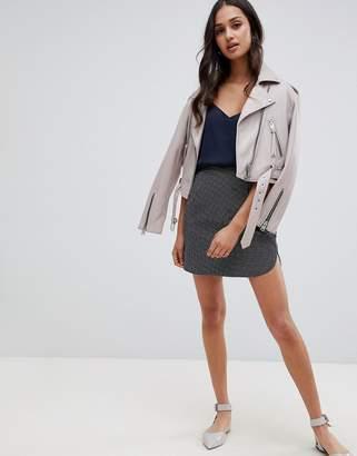 Glamorous a line skirt in gingham