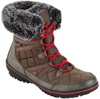 L.L. Bean L.L.Bean Women's Snow Harbor Synthetic Quilted Ankle Boots, Waterproof Insulated