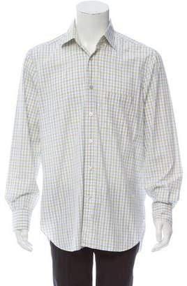 Kiton Long Sleeve Plaid Shirt