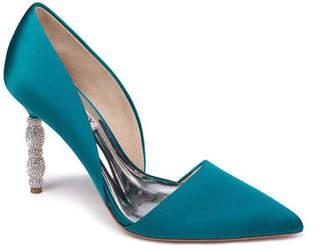 Badgley Mischka Emily Crystal-Heel d'Orsay Pumps