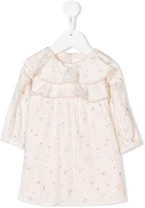Chloé Kids petal print ruffle dress