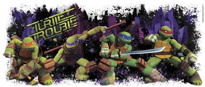 Roommates Nickelodeon Teenage Mutant Ninja Turtle Trouble Graphic Peel & Stick Wall Decals