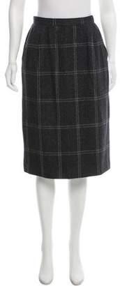 Gucci Vintage Wool & Cashmere Blend Skirt