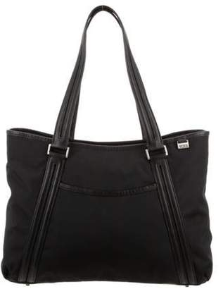 Tumi Leather-Trimmed Tote Black Leather-Trimmed Tote
