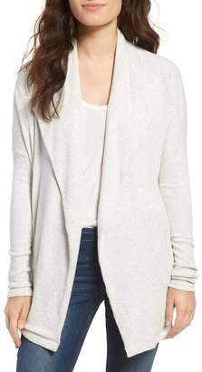 Velvet by Graham & Spencer Cozy Ribbed Open Cardigan