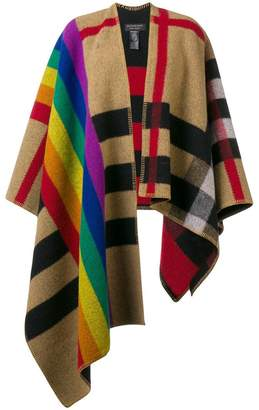 Burberry Rainbow Vintage Check poncho