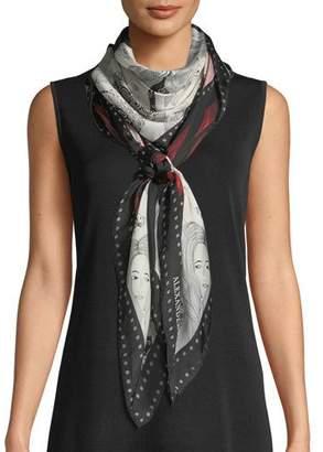Alexander McQueen Eve Of Harness Silk Satin Scarf