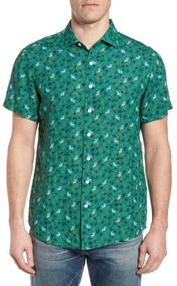 RODD AND GUNN Canoe Creek Tropical Print Linen Sport Shirt