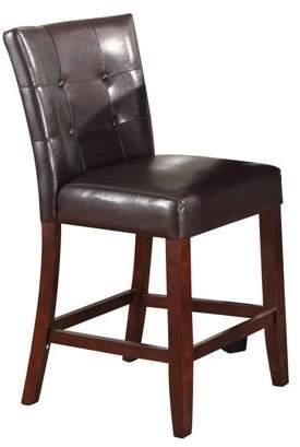 ACME Furniture ACME Bravo Counter Height Chair, Espresso PU & Walnut (Set of 2)