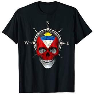 Antigua Skull Flag Shirt Antiguan DNA Roots & Heritage