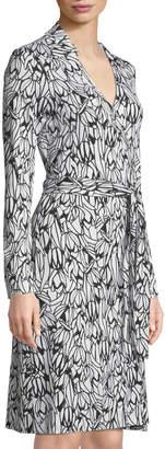 Diane von Furstenberg New Jeanne Printed Wrap Dress