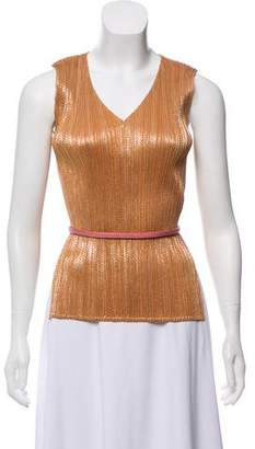 Pleats Please Issey Miyake Sleeveless Belted Tops w/ Tags