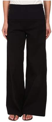 XCVI Fold-Over Palazzo Women's Casual Pants