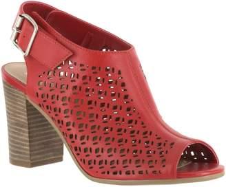 Bella Vita Leather Perforated Sandal Booties -Trento