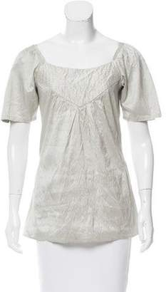 Calypso Metallic-Trimmed Silk Tunic