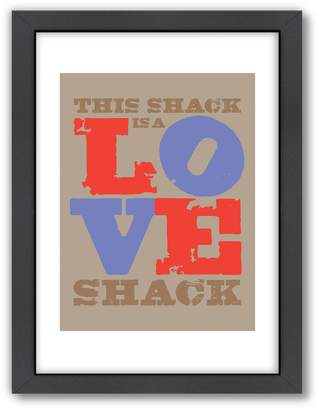 Americanflat Visual Philosophy ''Love Shack'' Framed Wall Art