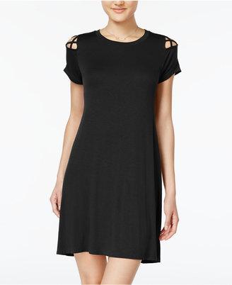 Planet Gold Juniors' Strappy-Shoulder T-Shirt Dress $29 thestylecure.com