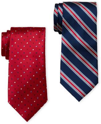 U.S. Polo Assn. Two-Pack Stripe & Dot Printed Ties