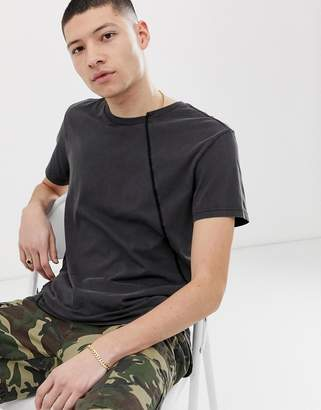 Cheap Monday t-shirt with twisted seams in black
