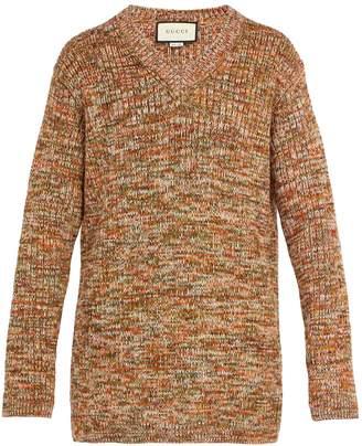 Gucci V-neck wool-blend sweater