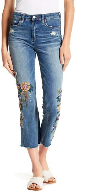 BLANKNYC Varick Floral Embroidered High Rise Jeans