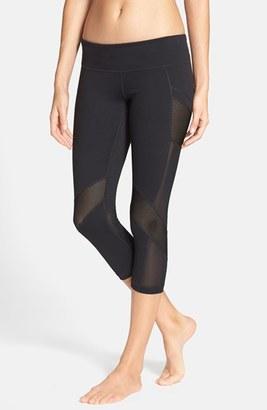 Women's Zella Luminous Mesh Inset Crop Leggings $58 thestylecure.com